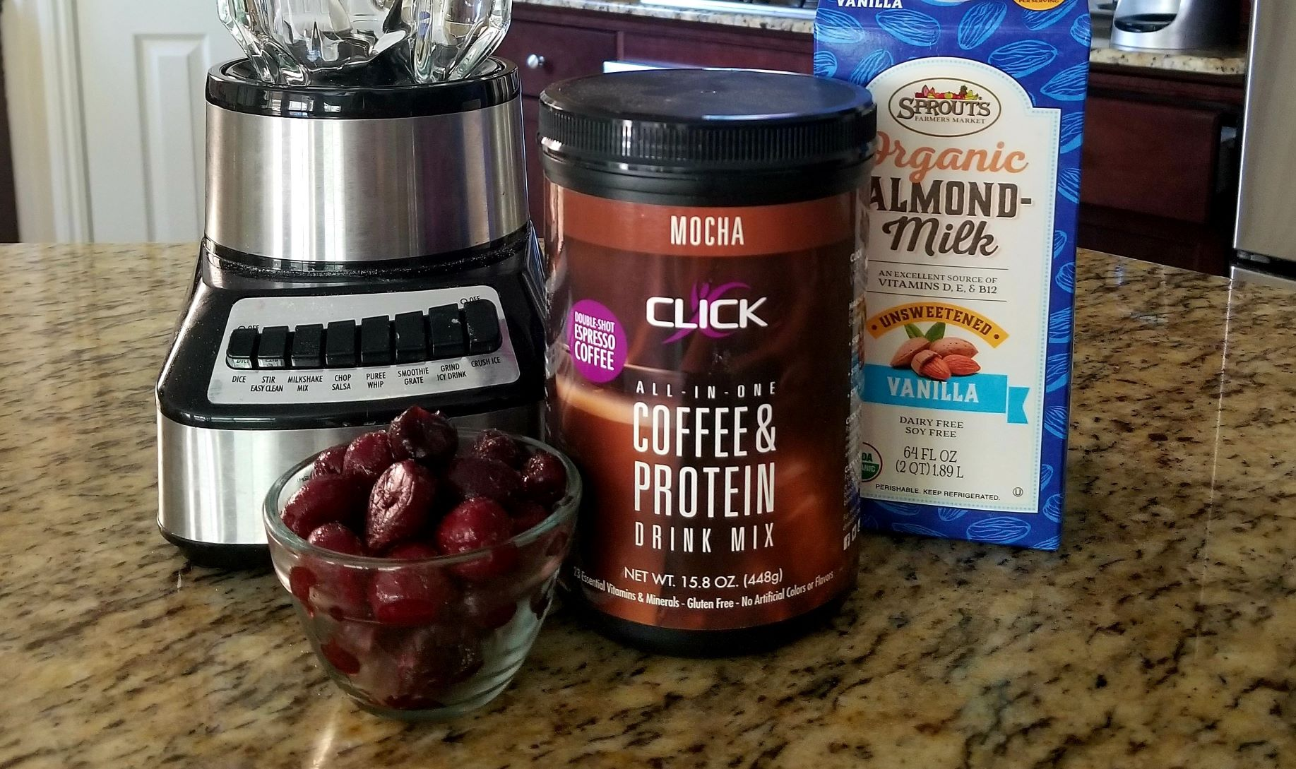 Image ofCoffee Protein Recipe: Black Forest Cherry Smoothie
