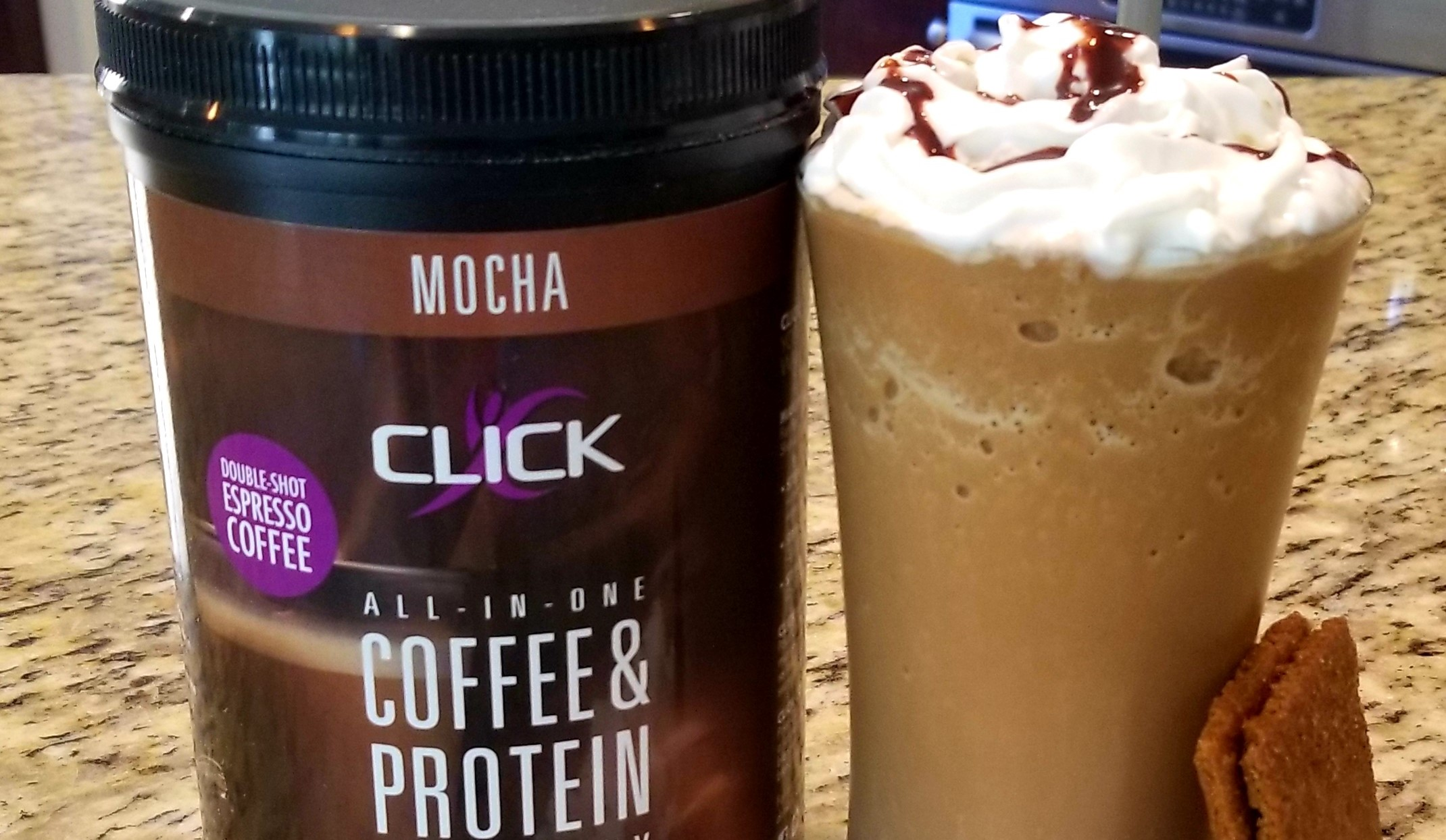 Image ofCoffee Protein Recipe: S'mores CLICK Smoothie Recipe