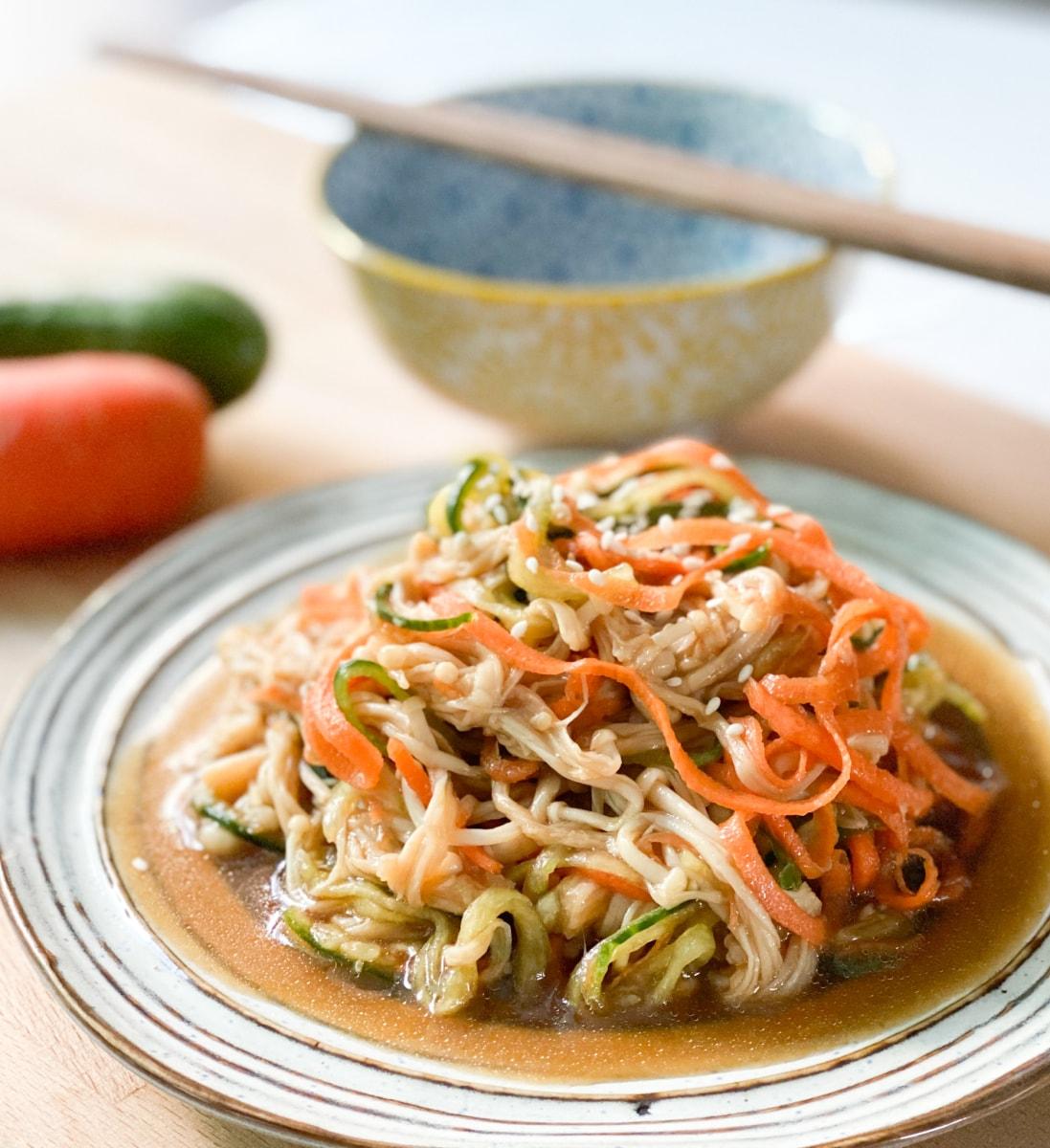 Image ofEnoki Mushroom Salad by @Styleinkhk