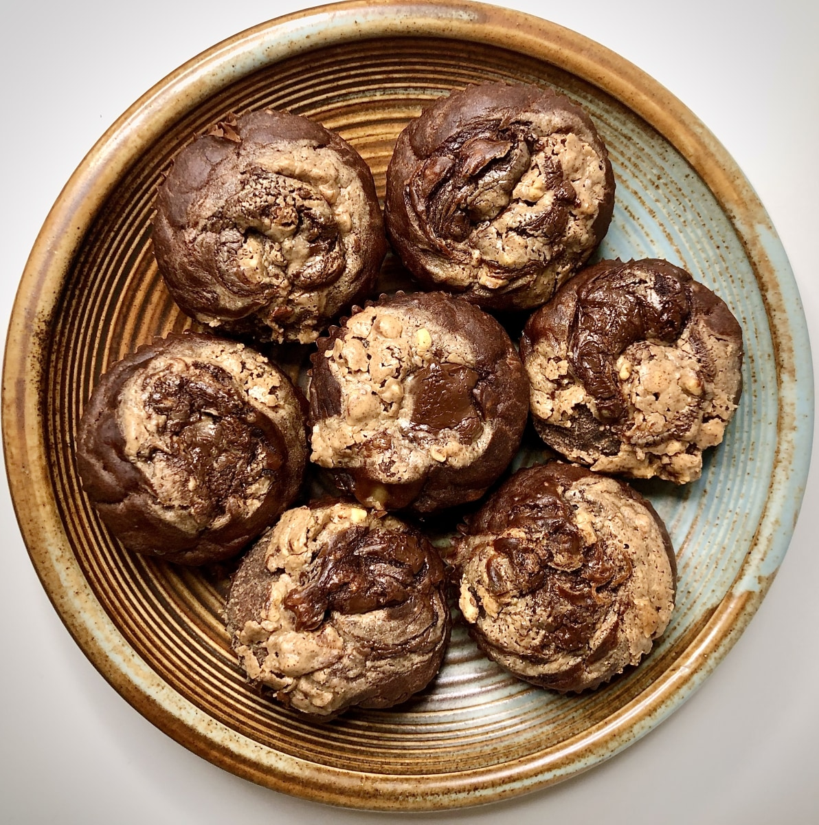 Image ofChocolate Banana Muffins with Almond Butter and Tiger Nut Swirls