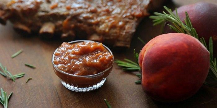 Image ofPeach Rhubarb Sauce