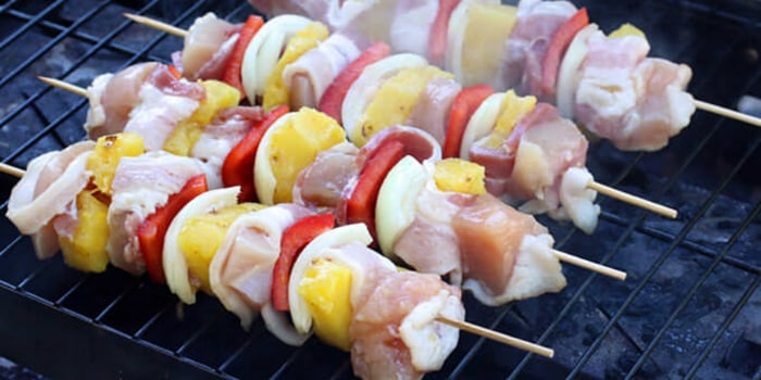 Image ofBacon Wrapped Chicken Shish Kebabs