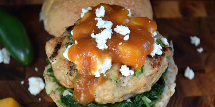 Image ofChicken & Peach Burger