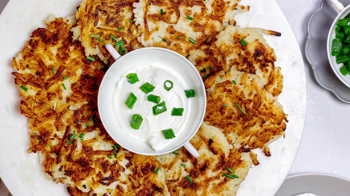 Image of Low FODMAP Potato Latkes