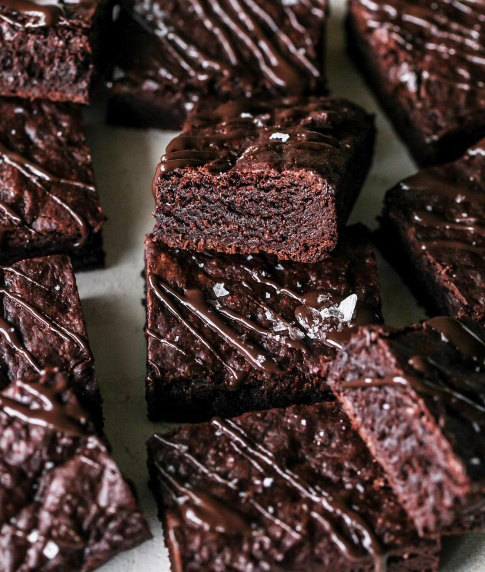 Image of Salted Dark Chocolate Tahini Brownies