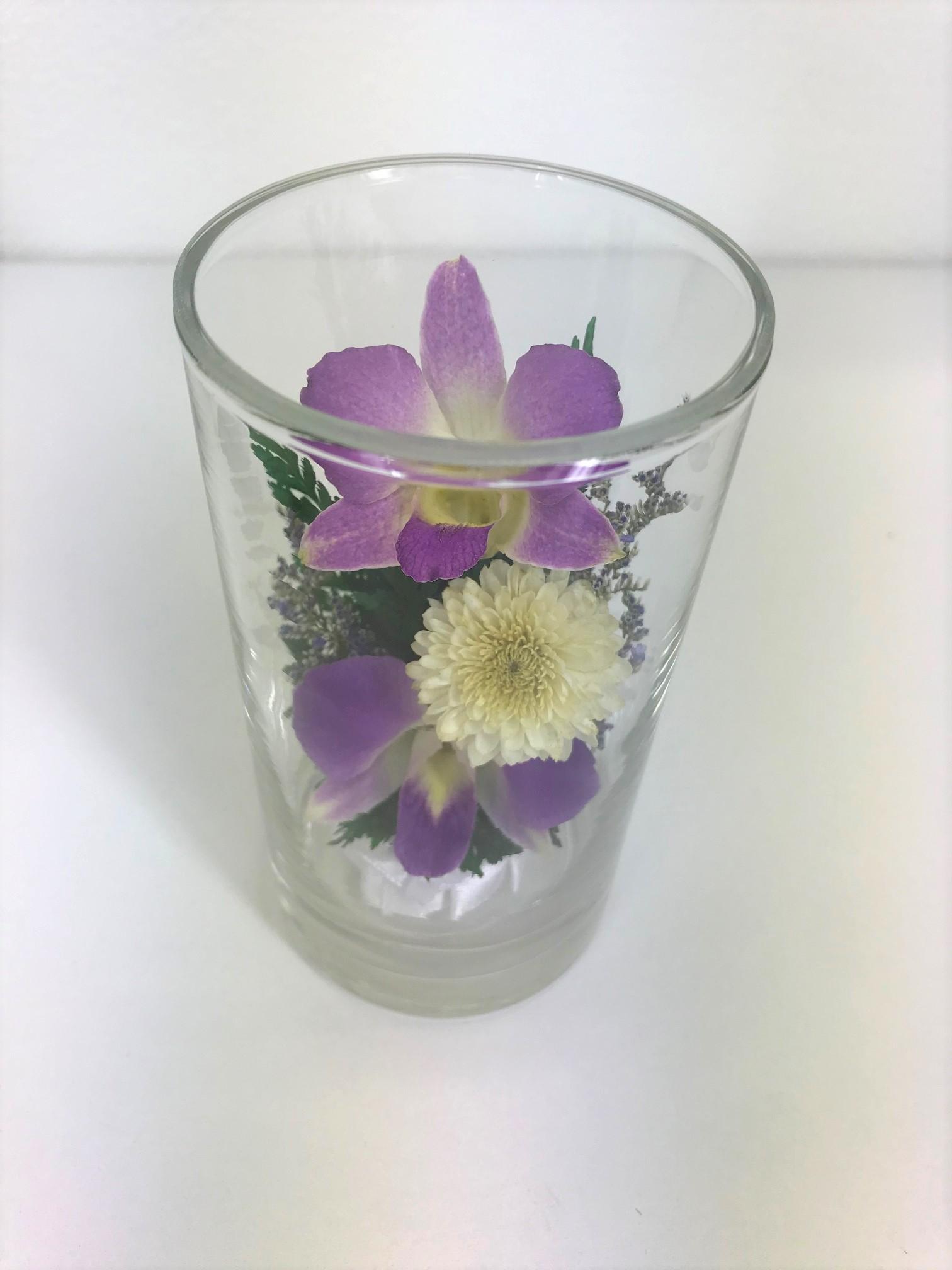 お盆のお供えに 仏花 ドライフラワー 双紫(そうし) 1個 - 4