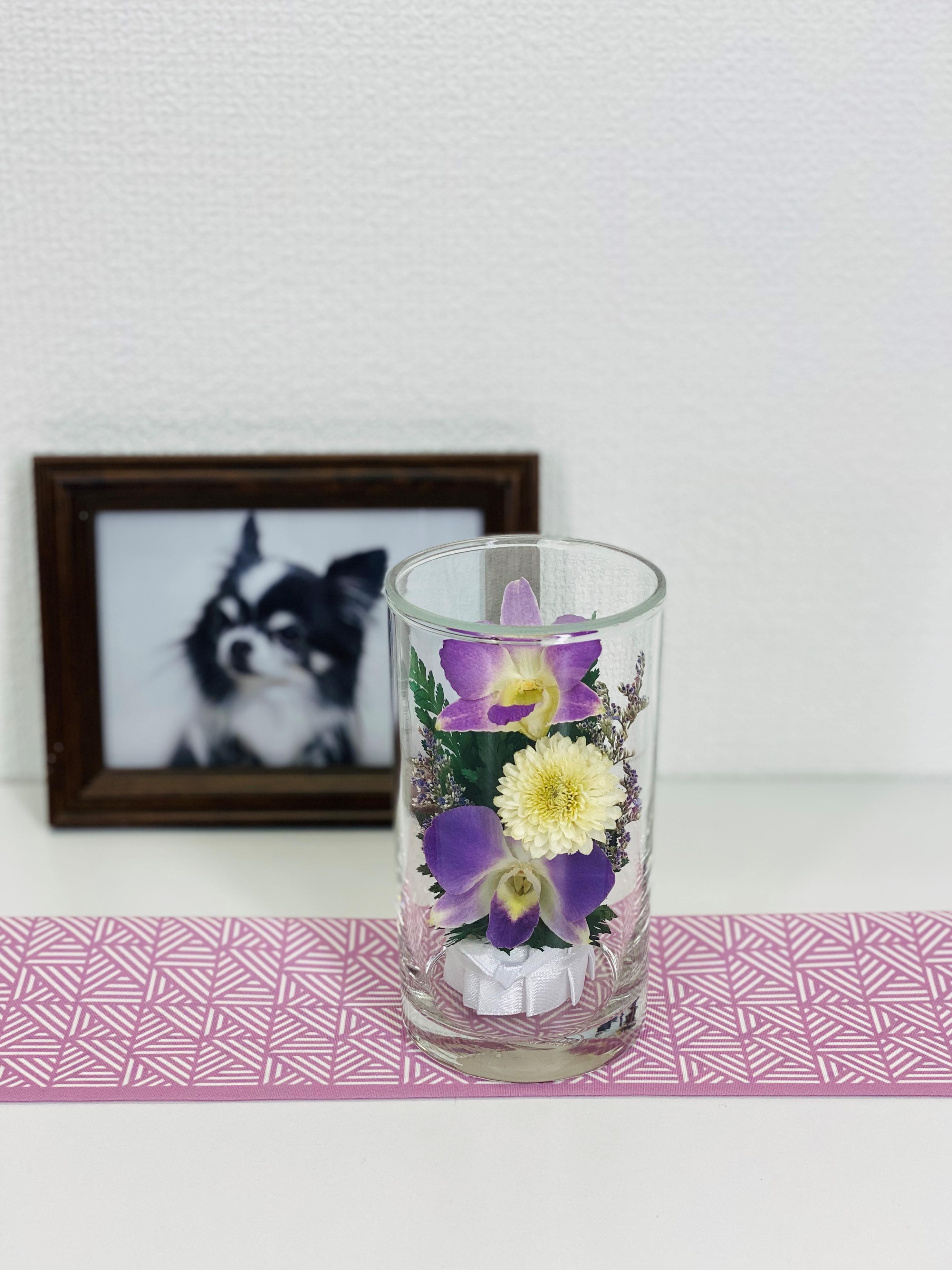 お盆のお供えに 仏花 ドライフラワー 双紫(そうし) 1個 - 3