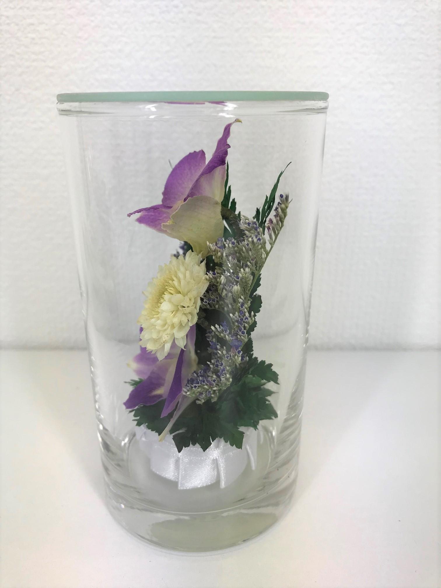 お盆のお供えに 仏花 ドライフラワー 双紫(そうし) 1個 - 5
