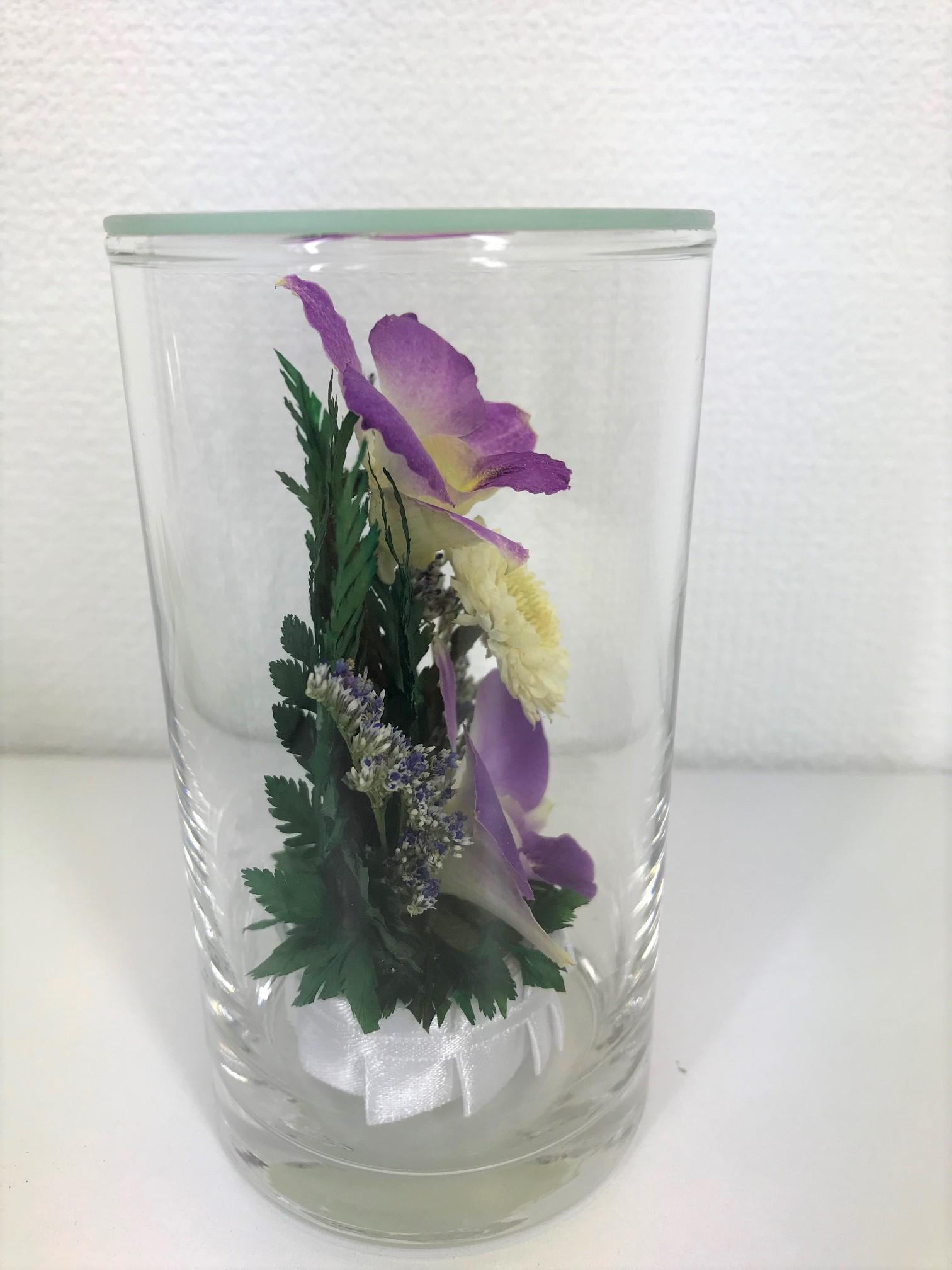 お盆のお供えに 仏花 ドライフラワー 双紫(そうし) 1個 - 7