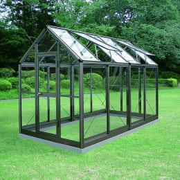 アルミ製ガラス温室 チャッピーB-2型 2坪タイプ CYP-B2G 1800×3576×2372