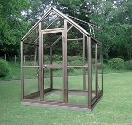 アルミ製ガラス温室 チャッピーB-1型 1坪タイプ CYP-B1G 1800×1800×2372