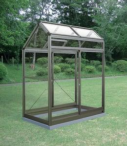 アルミ製ガラス温室 チャッピーA-1型 0.5坪タイプ CYP-A1G 1000×1800×2146