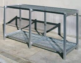 温室チャッピー オプション アルミベンチ棚2段タイプ 5-2S