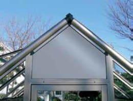 温室 チャッピー オプション 換気扇用妻ランマパネル ホワイト色 CY-02EW(B型用)