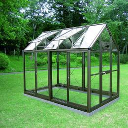 アルミ製ガラス温室 チャッピーB-15型 1.5坪タイプ CYP-B15G 1800×2950×2372