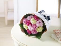 花束みたいな入浴剤! 特別SALE ダズンブーケ(ソープブーケ)ピンク系【手提げ袋付き】