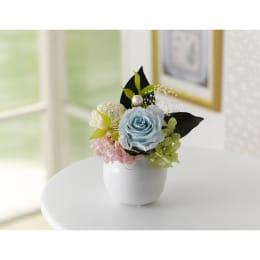 お彼岸のお手土産や贈り物に 特別SALE プリザーブドフラワー ミニ仏花 つばさ 青