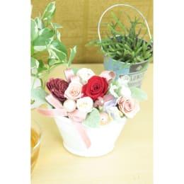カラフルな花姿は年代問わず喜ばれます!! 特別SALE プリザーブドフラワー エガオフワリ