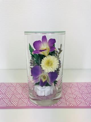 水やり不要の仏花です 仏花 ドライフラワー 双紫(そうし) 1個