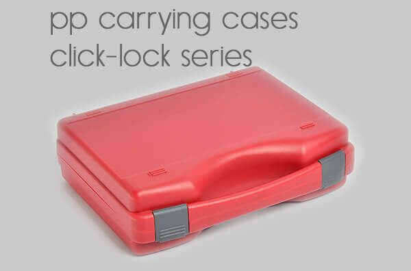pp carrying cases.<BR>click-lock series.