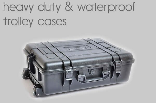 heavy duty<BR>waterproof trolley cases.