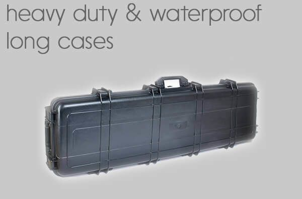 heavy duty<BR>waterproof long cases.