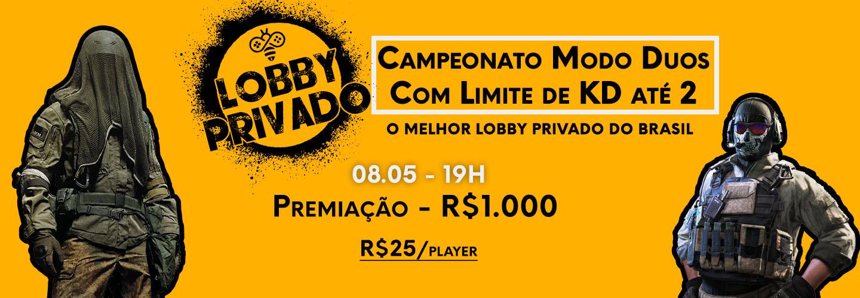 Lobby Privado Camp Warzone: Modo Duos Limite de KD 2 bClutch 08/05