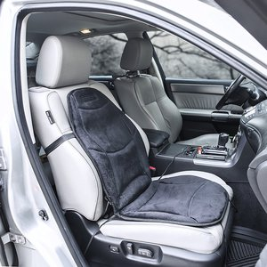 Wagan IN9438 12V Heated Seat Cushion with Lumbar Support black