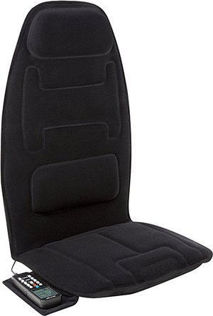 *Relaxzen 60-2910P 10-Motor Massage Seat Cushion with Heat and Extra Foam (Black)