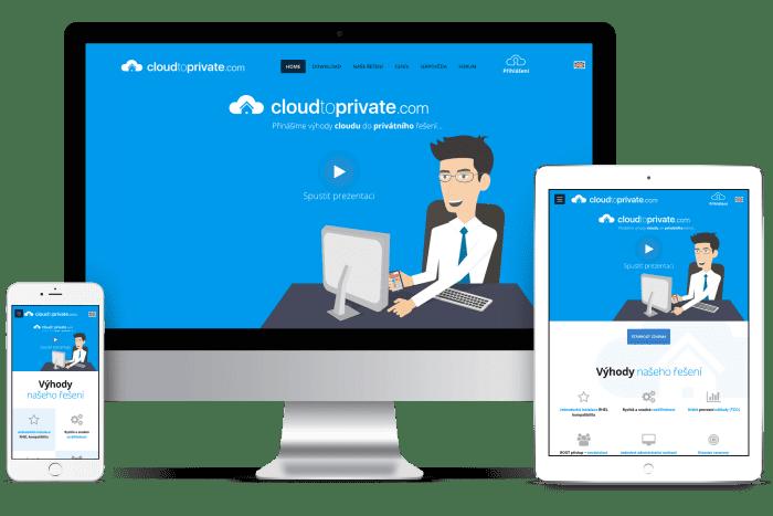 Frontend kódování pro Cloud to private