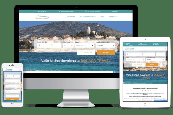 Frontend kódování pro Bonaca Travel