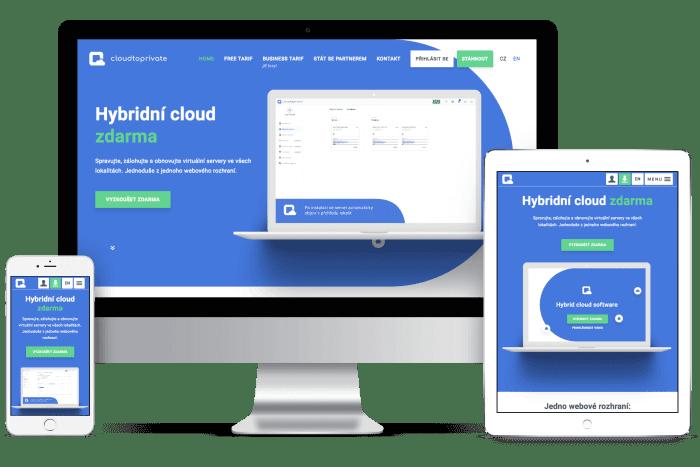 Frontend kódování pro CloudToPrivate