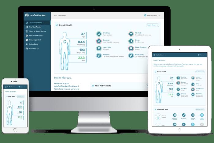 Frontend kódování pro Patient dashboard