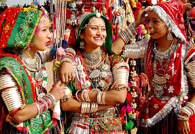 Bhil Ladies in their Traditional Costumes