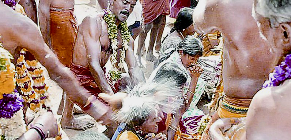 Aadi Festival Coconut Smashing on Head