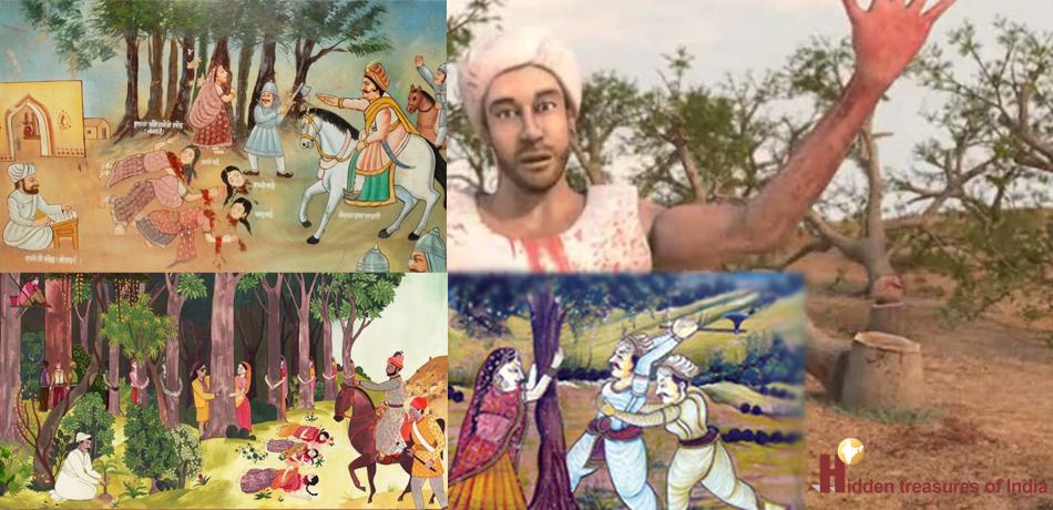 Khejarli movement paintings