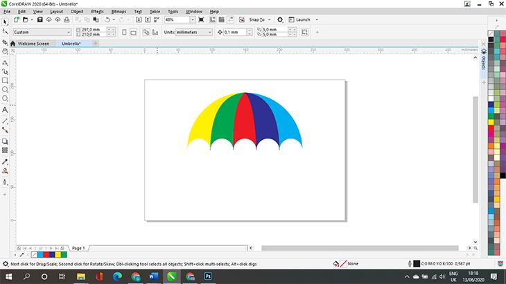 vẽ cái ô trong CorelDRAW