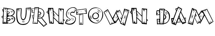 11 Font chữ chất liệu gỗ
