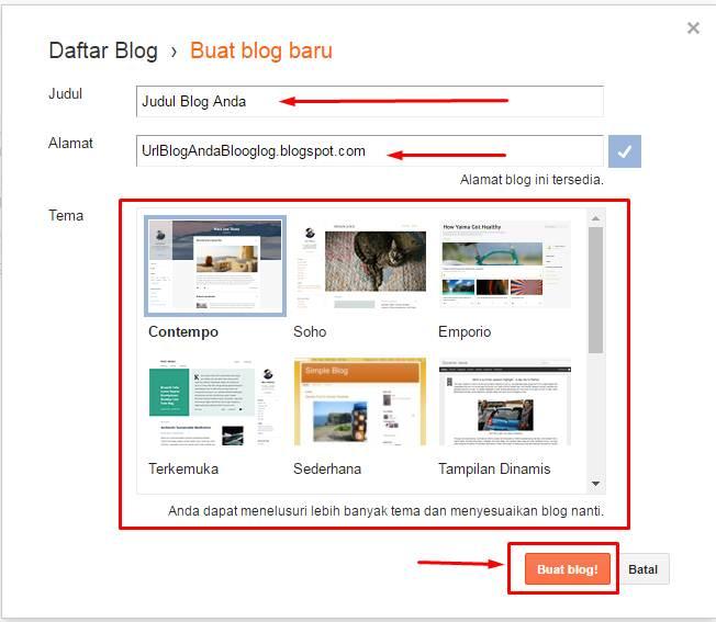 Cara Membuat Blogspot dari Awal