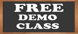 Free demo class with blackboard background