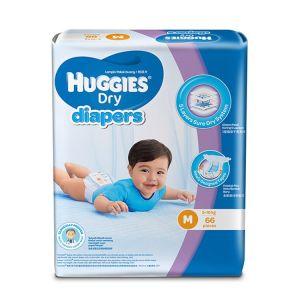 Huggies Baby Diaper Dry M, 5-10kg, 72pcs Belt System, Malaysia