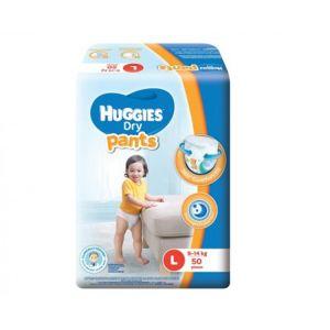 Huggies Baby Diaper Dry Pants L, 9-14kg, 54pcs Pant System, Malaysia