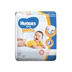 Huggies Baby Diaper Dry Pant S, 4-8kg, 66pcs Pant System, Malaysia