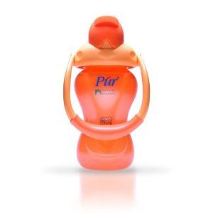 Pur 8 oz 250ml Natural Extension Straw Cup with Swing Handle Code-9007-A orange
