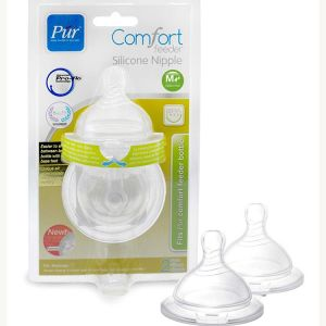 Pur Wide Mouth Comfort Feeder Nipple (2pcs) Code-1311