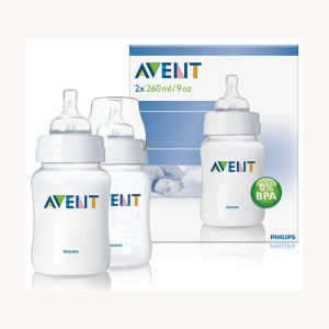 Avent Classic Twin Feeding Bottle (260 ml)