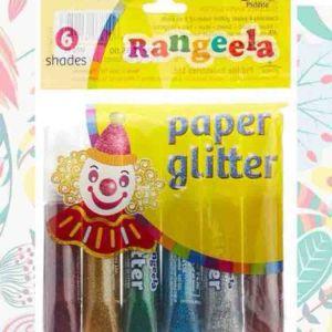 Rangeela Paper Glitter 3y+, 6 Shades