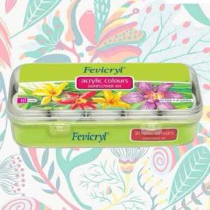 Fevicryl Acrylic Color Sunflower Kit 3y+, 10 Shades