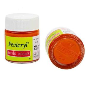 Fevicryl Acrylic Colour Orange 15ml P17