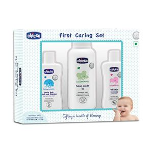 Chicco Baby Gift Set 3pcs pack Blue 0m+, Italy 352100580 front